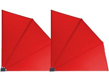 Grasekamp 2 Stück Balkonfächer 120 x 120 cm Rot