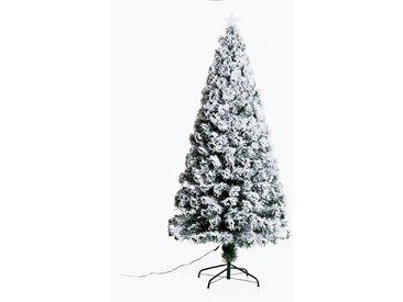Homcom Christbaum inklusive Metallständer grün/weiß