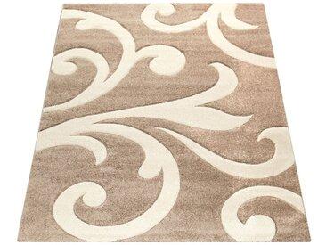 Paco Home Designer Teppich mit Konturenschnitt Modern Beige Creme