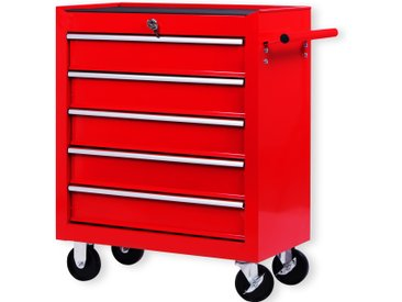 Masko Werkstattwagen lackiert funktionale Griffleiste kugelgelagerte Schubladen