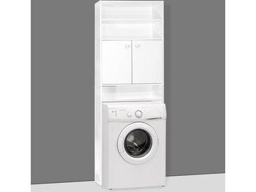 Deuba Badmöbel Set Waschbeckenunterschrank Badezimmerhochschrank Waschmaschinenschrank