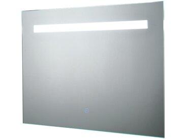 Kleankin LED-Spiegel mit Touch-Schalter silber