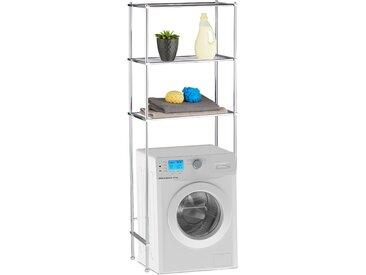 Relaxdays Überbauregal Waschmaschine 3 Ablagen