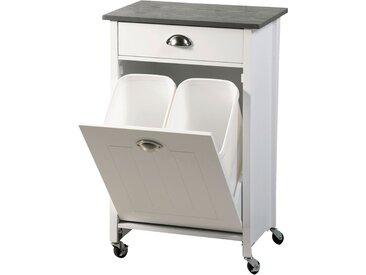 Kesper Küchenwagen inkl. Abfalleimer, weiß/grau