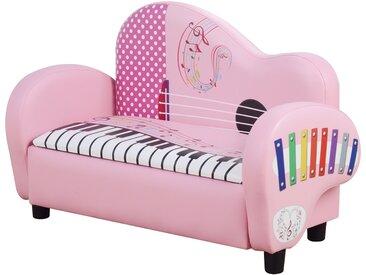 Homcom Kindersofa mit Stauraum rosa