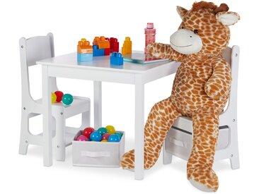 Relaxdays Kindertisch mit Stühlen und Stauboxen