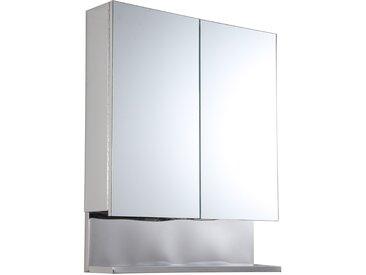 Kleankin Spiegelschrank mit Ablage silber