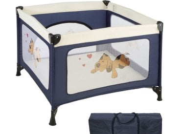 Tectake Baby Laufstall Tommy Junior blau