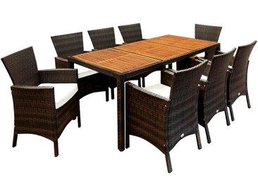 Casaria Poly Rattan Sitzgruppe Gartenmöbel Set Widerstandsfähig