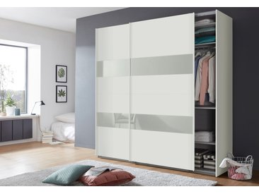 Wimex Schwebetürenschränke »Altona« mit Glaselementen und zusätzlichen Einlegeböden, weiß, 225 cm x 236 cm x 65 cm