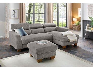 Home affaire Ecksofa »Steve Luxus«, mit besonders hochwertiger Polsterung für bis zu 140 kg pro Sitzfläche, braun, Struktur