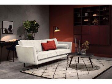 furninova 3-Sitzer, inkl. 2 Kissenrollen, beige, Struktur weich