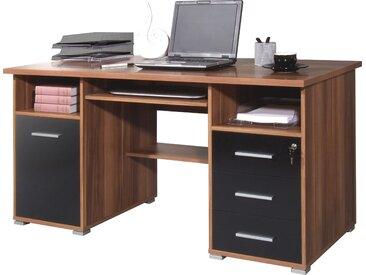 GERMANIA Schreibtisch »0484«, mit Tastaturauszug und abschließbarem Schubkasten, beige