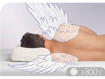 Nackenhörnchen, »S800 V«, Schlafstil, Füllung: Visco Premium Schaum RG 65, Bezug: 100% Baumwolle, (1-tlg), weiß