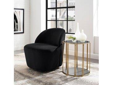andas Loungesessel »Dianalund«, aus schönem weichen Samtvelours Bezug, in unterschiedlichen Farbvarianten, Design by Morten Georgsen, schwarz