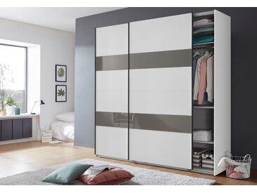 Wimex Schrank mit Schwebetüren »Altona« mit Glaselementen und zusätzlichen Einlegeböden, weiß, 225 cm x 236 cm x 65 cm