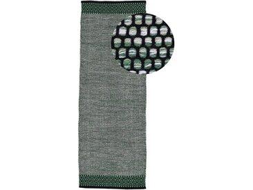 Läufer »Kelim Mia«, carpetfine, rechteckig, Höhe 6 mm, reine Baumwolle, grün, 75 cm x 240 cm x 6 mm