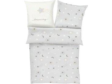 Kinderbettwäsche »Sternenhimmel«, s.Oliver Junior, mit Stern- und Mondmuster, grau