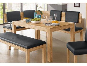 Premium collection by Home affaire Eckbank »Madison«, wahlweise aus massiver Buche oder Eiche, beige, 200 cm x 89 cm x 150 cm