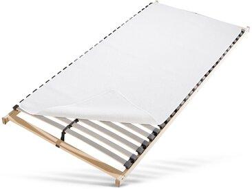 Matratzentopper »Noppen«, f.a.n. Frankenstolz, Kunstfaser, Bestseller mit 5* Top-Bewertung, weiß, 90 cm x 190 cm