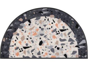Fußmatte »Round Terrazzo«, wash+dry by Kleen-Tex, halbrund, Höhe 7 mm, Fussabstreifer, Fussabtreter, Schmutzfangläufer, Schmutzfangmatte, Schmutzfangteppich, Schmutzmatte, Türmatte, Türvorleger, In- und Outdoor geeignet, waschbar, beige