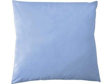 Kissenbezüge »Pure Uni«, damai (2 Stück), in großer Farbauswahl, blau, 80 cm x 80 cm