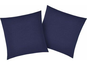Kissenbezüge »Luisa«, my home (2 Stück), mit leichtem Glanzeffekt, blau, 50 cm x 50 cm