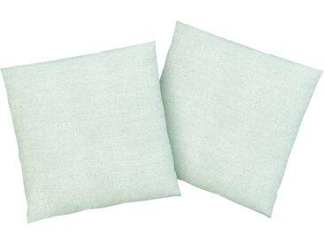 Kissenhüllen »Melli«, Home affaire (2 Stück), Melange-Optik im Leinen-Look, blau, 40 cm x 40 cm