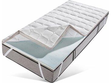 Matratzentopper »Leon«, my home, 6 cm hoch, Raumgewicht: 50, Viscoschaum, Der Topper mit 2 unterschiedlich festen Seiten, weiß, 160 cm x 200 cm x 6 cm