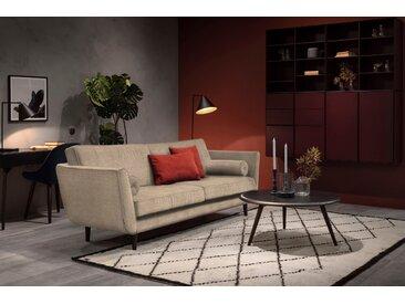 furninova 3-Sitzer, inkl. 2 Kissenrollen, braun, Luxus-Microfaser weich