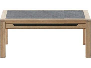DECKER Sofatisch »AMENO«, mit eingelassener Schieferplatte, in verschiedenen Größen, braun, 130 cm x 45 cm x 70 cm
