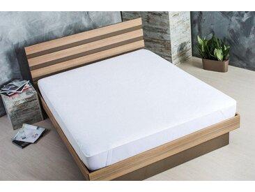 Matratzentopper »AQUA-STOP Molton 190«, SEI Design, Kunstfaser, weiß, 160 cm x 200 cm