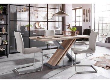 Homexperts Essgruppe »Jax«, Breite 160 cm mit 4 Stühlen, grau