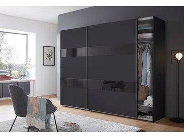 Wimex Schrank mit Schwebetüren »Altona« mit Glaselementen und zusätzlichen Einlegeböden, grau, 270 cm x 208 cm x 65 cm