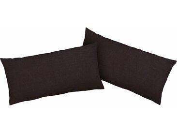 Kissenbezüge »Luisa«, my home (2 Stück), mit leichtem Glanzeffekt, schwarz, 80 cm x 40 cm