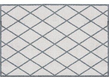 Fußmatte »Scale«, Zala Living, rechteckig, Höhe 7 mm, Fussabstreifer, Fussabtreter, Schmutzfangläufer, Schmutzfangmatte, Schmutzfangteppich, Schmutzmatte, Türmatte, Türvorleger, Rauten Design, In- und Outdoor geeignet, grau