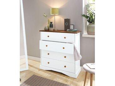 Home affaire Kommode »Juliette«, zweifarbig in weiß/eichefarben, Breite 87 cm