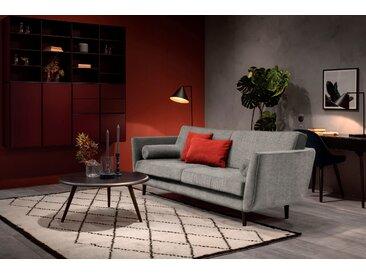 furninova 3-Sitzer, inkl. 2 Kissenrollen, grau, Luxus-Microfaser weich