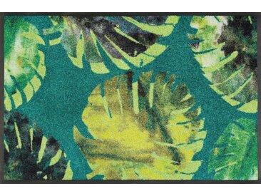 Fußmatte »Philo Leaves«, wash+dry by Kleen-Tex, rechteckig, Höhe 7 mm, Fussabstreifer, Fussabtreter, Schmutzfangläufer, Schmutzfangmatte, Schmutzfangteppich, Schmutzmatte, Türmatte, Türvorleger, grün