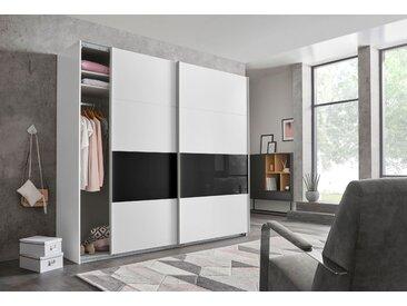 Wimex Schrank mit Schwebetüren »Bramfeld« mit Glaselementen und zusätzlichen Einlegeböden, weiß, 225 cm x 208 cm x 64 cm
