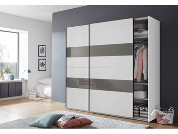 Wimex Schwebetürenschränke »Altona« mit Glaselementen und zusätzlichen Einlegeböden, weiß, 225 cm x 208 cm x 65 cm