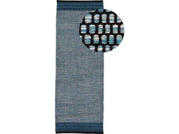 Läufer »Kelim Mia«, carpetfine, rechteckig, Höhe 6 mm, reine Baumwolle, blau, 80 cm x 400 cm x 6 mm