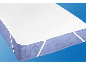 Matratzenauflage »Molton Premium mit Silberausrüstung«, Biberna, Baumwolle, weiß, 120 cm x 200 cm