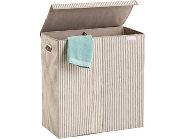 Zeller Present Wäschesortierer »Stripes«, 2-fach, Vlies, beige