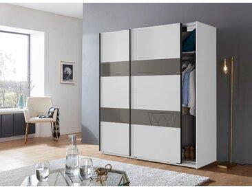 Wimex Schrank mit Schwebetüren »Altona« mit Glaselementen und zusätzlichen Einlegeböden, weiß, 180 cm x 198 cm x 64 cm