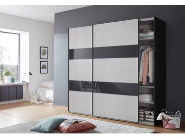 Wimex Schrank mit Schwebetüren »Altona« mit Glaselementen und zusätzlichen Einlegeböden, grau, 225 cm x 208 cm x 65 cm