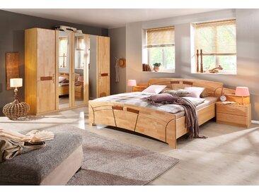 rauch BLACK Schlafzimmer-Set »Sarah«, (Set, 4-tlg), mit Bett 180/200 und 5-oder 6-trg. Schrank, beige
