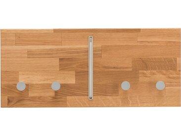 Home affaire Garderobenleiste »Dura«, aus schönem massivem Wildeichenholz, Breite 50 cm, beige, 50 cm x 22 cm x 4,6 cm