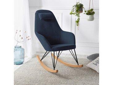 andas Schaukelstuhl »Tajo« Stahlbeine mit Holzkufen, moderne Optik, Sitzhöhe 47 cm, blau