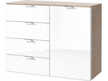 Express Solutions Kombikommode, Breite 130 cm, mit Glas, beige